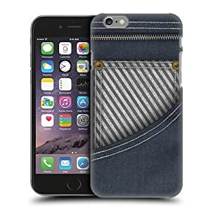 Head Case Designs Front Pocket Striped Denims Protective Snap-on Hard Back Case Cover for Apple iPhone 6 4.7 by icecream design