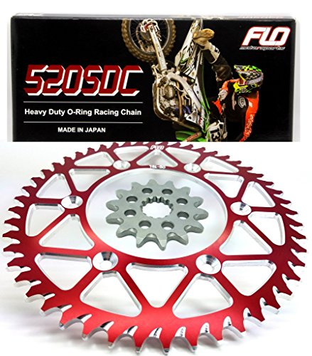 - FLO MOTORSPORTS O-RING Chain & Sprocket Combo KIT SUZUKI RM-Z450 Front Sprocket 13 Tooth/Rear Sprocket 50, 51, 52 and 53 RED and BLACK (50T, RED)