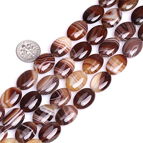 (Botswana Agate Beads for Jewelry Making Natural Gemstone Semi Precious 13x18mm Oval 15