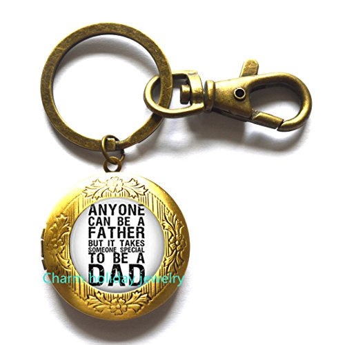 Father gift , fathers day gift , father quote gift , father quote Locket keychain , father Locket keychain , dad birthday gift Locket