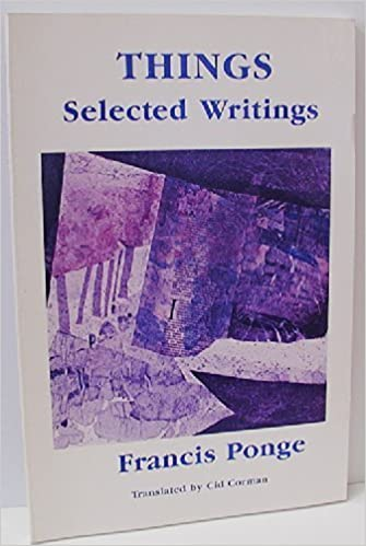 Image result for Things: Selected Writings of Francis Ponge