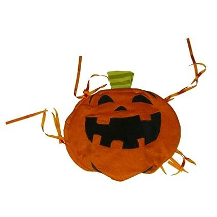 Boo U0026 Co Halloween Chair Back Cover Orange Pumpkin Jack O Lantern