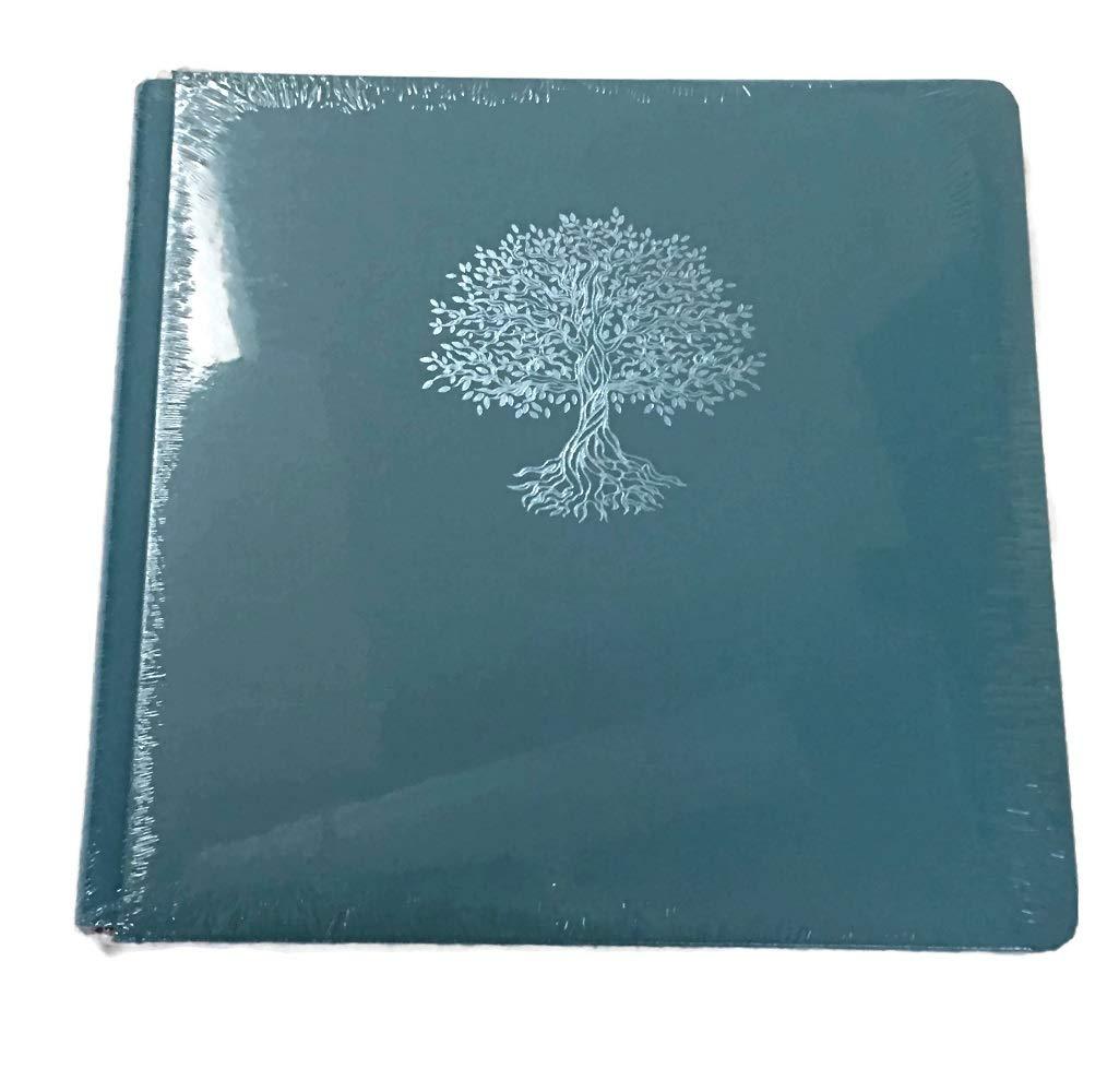 Creative Memoires 12x12 Lagoon Blue Tree of Life Rare Album Book Cloth Cover