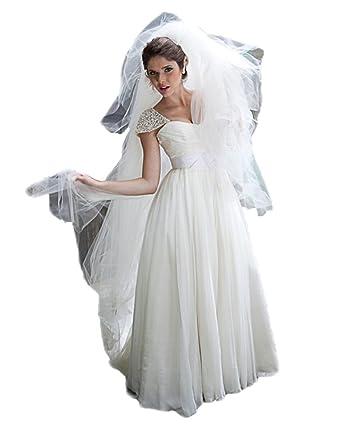 Bohemian Wedding Dress 2018 Cap Sleeve Empire Wedding Gowns for ...
