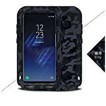 Love MEI Samsung Galaxy S8 Case ,CAMO SERIES Shockproof Waterproof Dust / Dirt / Snow Proof Aluminum Metal Case Gorilla Glass Heavy Duty Protection Case Cover For Samsung Galaxy S8 (City)