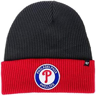 47 Brand 2-Tone Ice Block Cuff Beanie Hat MLB Cuffed Winter Knit Toque Cap