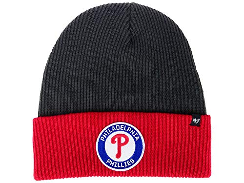 - '47 Philadelphia Phillies 2-Tone Cuff Ice Block Beanie Hat - MLB Cuffed Winter Knit Toque Cap