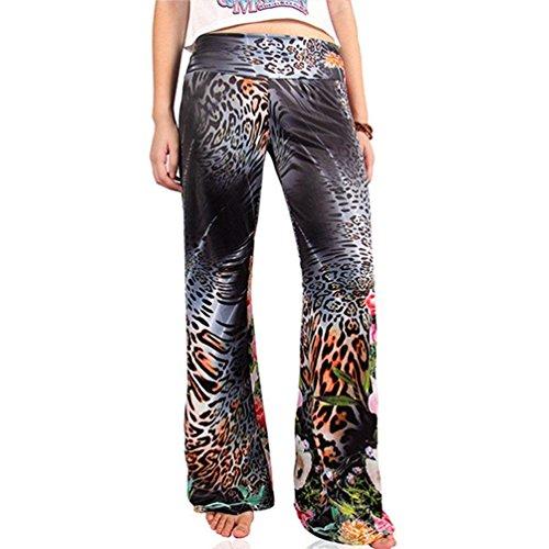 Larghi Ragazza Colour Abbigliamento Pantaloni Fashion Libero Pantaloni Pantalone Pantaloni Accogliente Stampate Pants Vintage Donna Tempo Eleganti Chic Estivi Allentato 12 Baggy Larghi 5pHn7Rwx