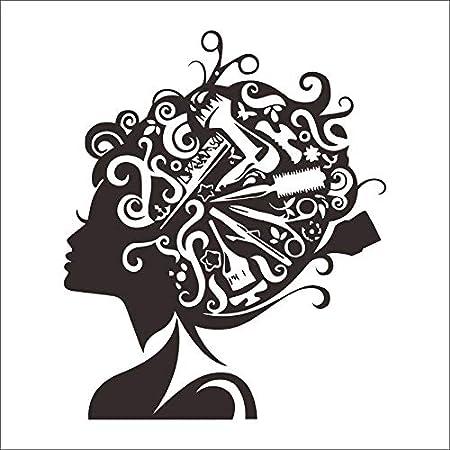 Ajcwhml CHM peluquería Belleza calcomanía Corte Nombre ...