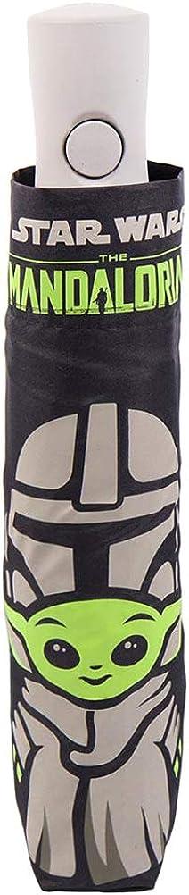 CERDÁ LIFE'S LITTLE MOMENTS Paraguas Automático Plegable de The Mandalorian-Licencia Oficial Star Wars, Multicolor, Estándar para Hombre