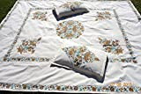 Christmas gift Embroidered King size bedspread with matching pillow cases