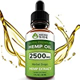Hemp Oil Drops for Pain, Anxiety & Stress Relief - 2500mg of Pure