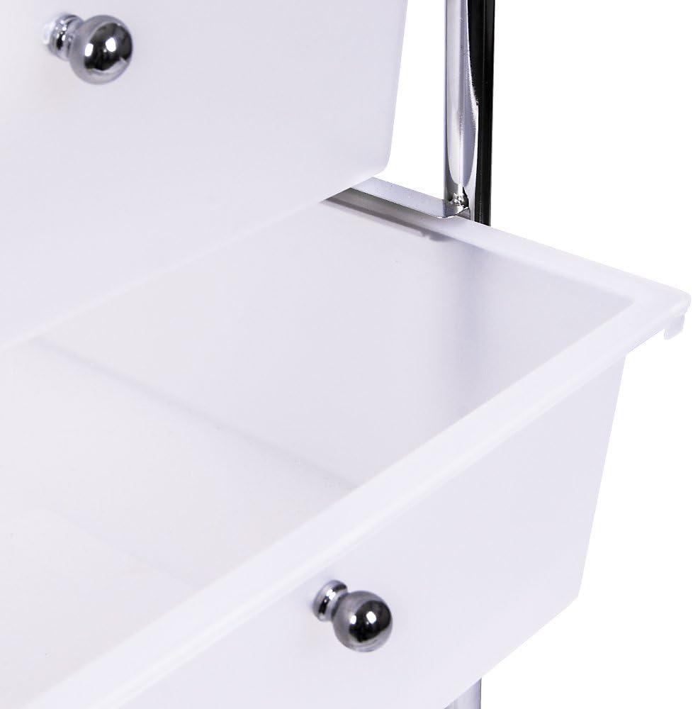 Metal White Home Vida 4 Drawer Storage Trolley