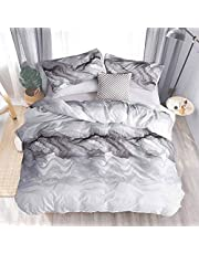 Nanko Comforter Set 3 PC All Season Reversible Down Alternative Quilted Duvet Insert, Luxury Hotel Quality Bedding Sets in a Bag Floral Farmhouse
