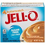 Jell-O Sugar-Free Instant Pudding and Pie Filling, Butterscotch, 1-Ounce Boxes (Pack of 6)