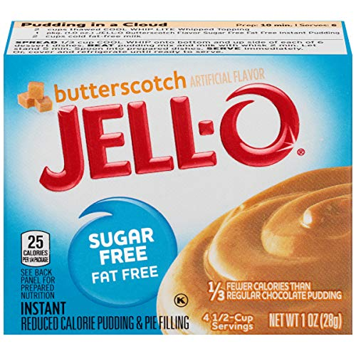 Jell-O Instant Sugar-Free Fat-Free Butterscotch Pudding & Pie Filling, 1 oz Box (Pack of 6) ()