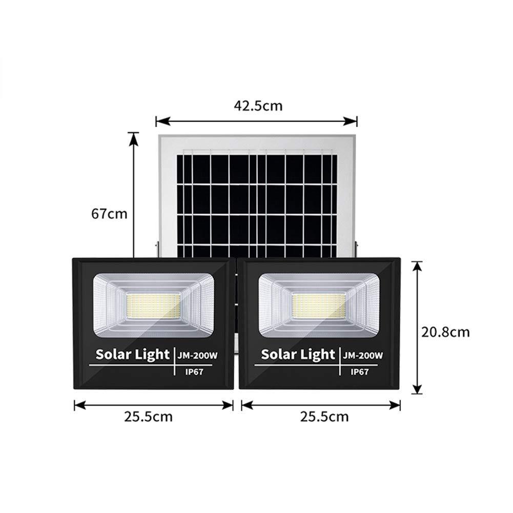 200W Solar Foco Proyector LED Exterior, IP67 a prueba de agua ...
