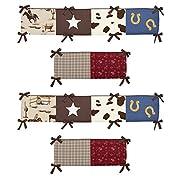 Sweet Jojo Designs Wild West Collection Crib Bumper