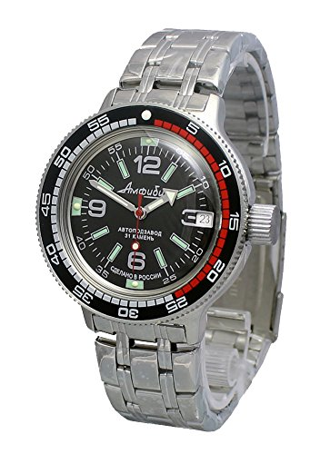 Amphibia 200m VOSTOK Automatic Mechanical Watch with Custom Bezel! New! 2416/420640 (Bracelet)