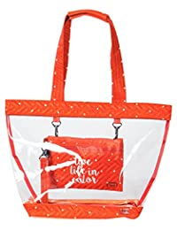 Lug Peekaboo Clear Travel Tote, Sunset Dot, One Size (Model: Peekaboo-Sunset DOT)