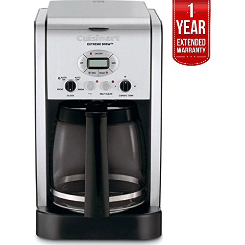 Cuisinart Brew Central 12-Cup Programmable Coffeemaker Factory Refurbished (DCC-2650FR) with 1 Year Extended Warranty