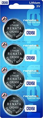 Renata 3v CR2450N Lithium Battery - 4pcs