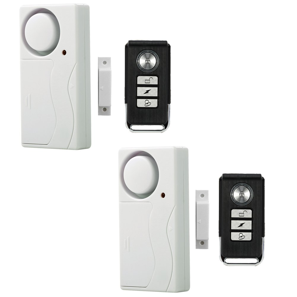 Wireless Remote Window Door Alarm Security Alarms Magnetic Sensor Home Door Pool Entry chime Pack of 2