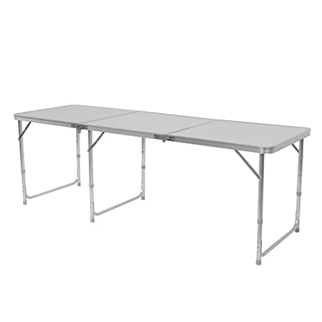 Bobe Mesa Plegable de Aluminio de 6 pies, Mesa portátil de 3 ...