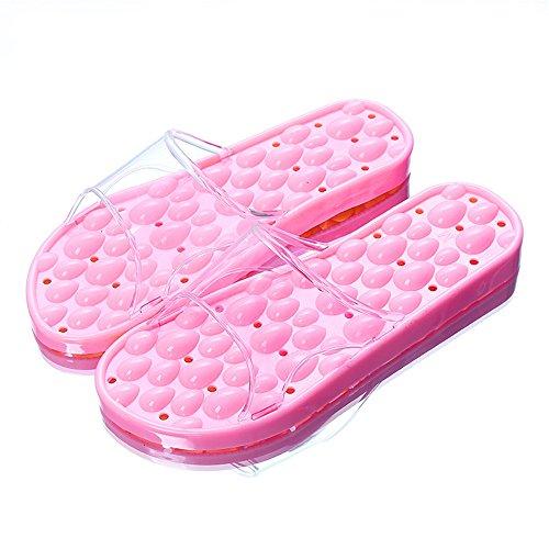 y interior mujer verano resbaladizo baño zapatillas pie masaje de verano zapatillas hombres hogar zapatos mujeres zapatos acupresión rosa Zapatillas FqI0wdq