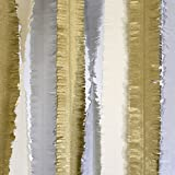 crepe paper silver - Talking Tables Decadent Décor Fringed Metallic Streamers for Home Décor, New Years Eve Party or a Birthday, Silver & Gold (3 Pack)
