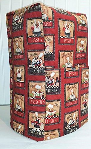 Red Fat Bistro Chefs Large Blender Cover (All Bistro Chefs) - Quilted Blender Appliance Cover