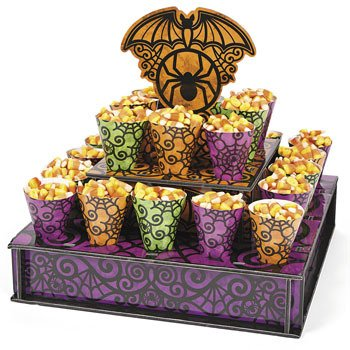 Halloween Trick Or Treat Stand With Cones - Halloween Party Supplies & Decorations & Party Favor & (Treat Cone Stand compare prices)