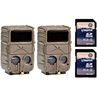 (2) CUDDEBACK E3 Black Flash No Glow Infrared Game Hunting Cameras + SD Cards