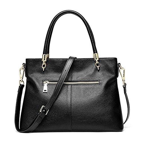 Women Lady Supple Hobo Shoulder Leather Black Soft Satchels Handbags Genuine Bags PPHwZq