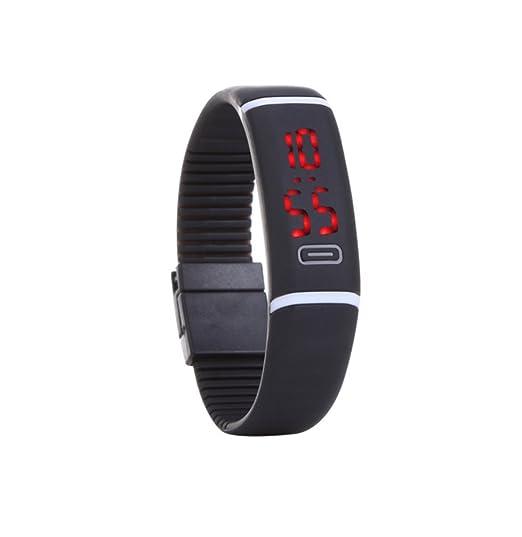 Diseño Amigos Reloj Deportivo Entrenamiento Reloj silicona reloj reloj Watch Reloj Deportivo Silicona Negro Digital: Amazon.es: Relojes