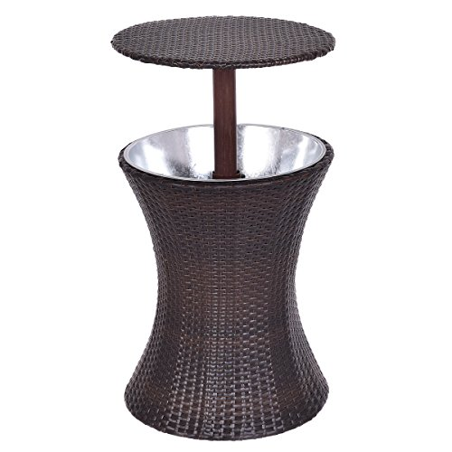 Cheap  Giantex Adjustable Outdoor Patio Rattan Ice Cooler Cool Bar Table Party Deck..