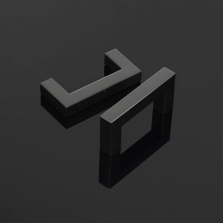 Tiradores para puerta de armario de cocina negro PinLin color negro acero inoxidable, 12/mm
