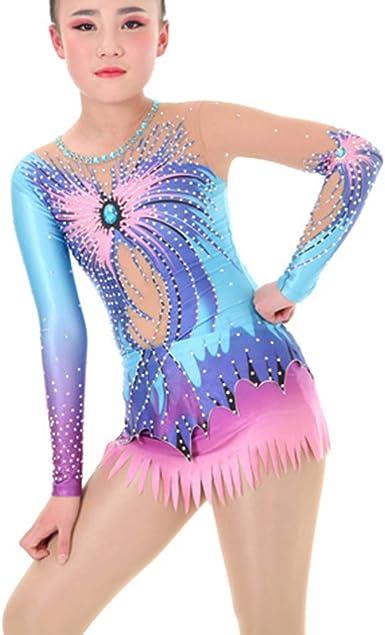 Girl\u2019s Size 9 Floral Velvet 2 Piece Dance Gymnastics Leotard Bodysuit Costume