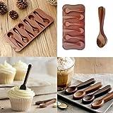 fomccu 1Kuchen Form DIY Schokolade Sechs Löffel Form Silikon Form für Backen Topper Candy