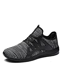 Johnlouise Fashion Sneaker for Men Lightweight Running Shoes Breathable Mesh Gym Casual Shoe