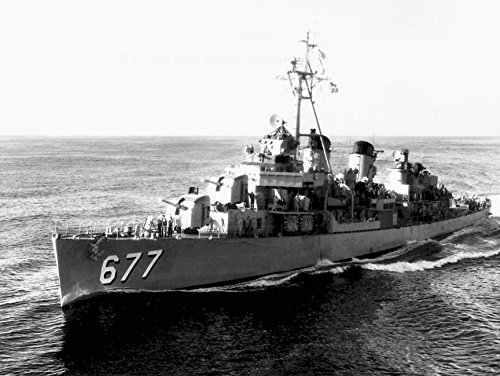 Home Comforts Laminated Poster The U.S. Navy Destroyer USS McDermut (DD-677) underway at sea Off Quonset Point, Rhode Island (USA), Vivid Imagery Poster Print 24 x 36
