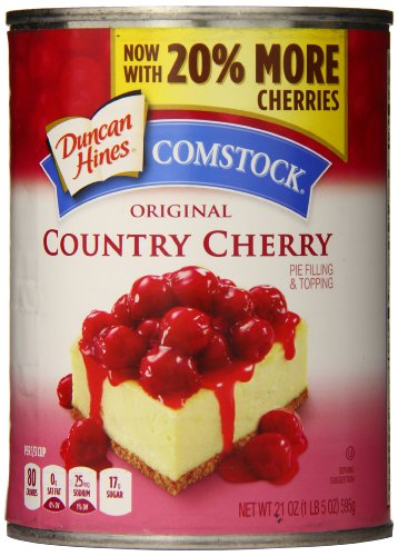 Comstock Original Pie Filling & Topping, Country Cherry, 21 Ounce (Pack of 8)