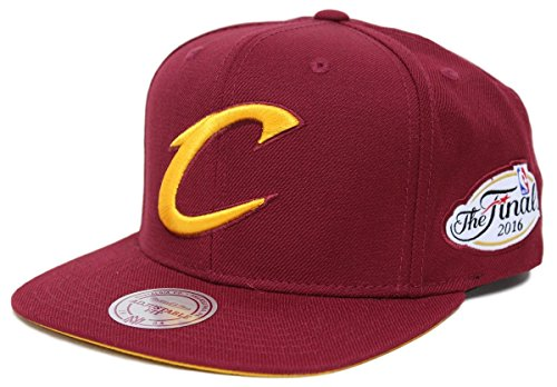Cleveland Cavaliers NBA Mitchell & Ness 2016 Finals Champions Solid Logo Snapback (Maroon) (Hardwood Classic Hat)
