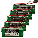 Synergy Digital Cordless Phone Batteries - Replacement for Uniden BBTG0609001, BT-1002 Cordless Phone Batteries (Set of 5)