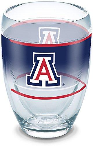 Tervis 1292074 Arizona Wildcats Original Insulated Tumbler with Wrap 9oz Stemless Wine Glass -