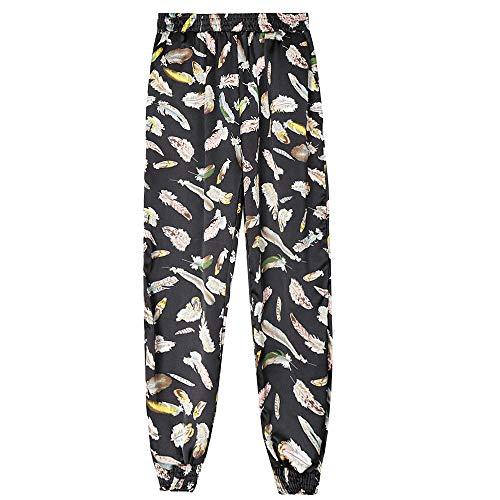 Harem Pants Ample Noir3 Imprim Casual de Pantalons SANFASHION Femme Sport Lache Oq71Pfw