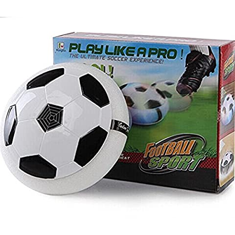 Eternal E1 Air Power Soccer Disk Training Football with Foam Bumpers and Light Up LED Lights Girls Boys Sport Kids Toys Hover Ball Game for Indoor - Power Air Hockey