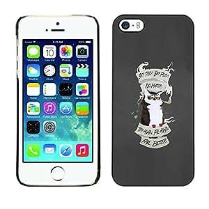 Be Good Phone Accessory // Dura Cáscara cubierta Protectora Caso Carcasa Funda de Protección para Apple Iphone 5 / 5S // Fail Better Learn Owl Inspiring Quote Poster