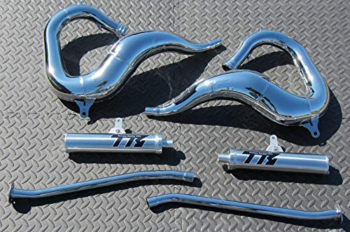 New Yamaha Banshee Chrome Toomey Racing T5 Pipes And T-5 Silencers 1987-2006