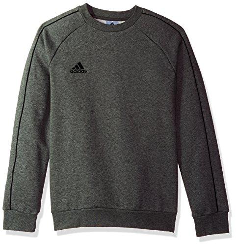 adidas Unisex Youth Soccer Core18 Sweat Top, Dark Grey Heather/Black, Small